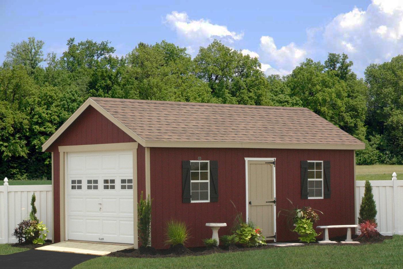 12x24 single car garages for sale