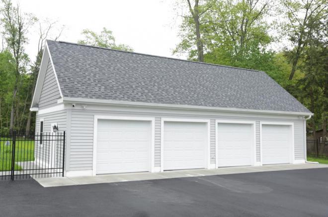 4 car prefab garage amish built