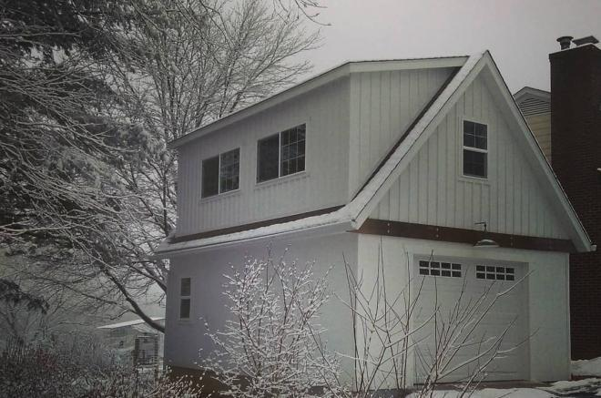 amish built 2 story garage