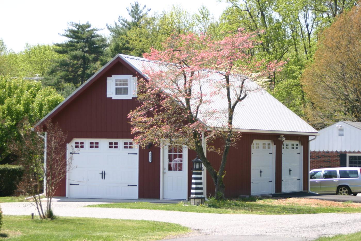 24x40 three car garage with attic