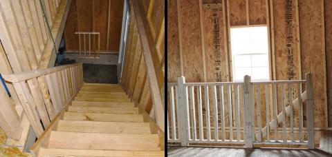 full stairway 2 story prefab garage pa