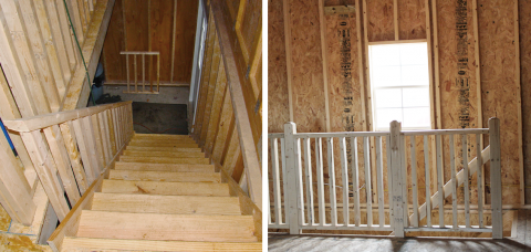 full stairway 2 story prefab garage pa 4