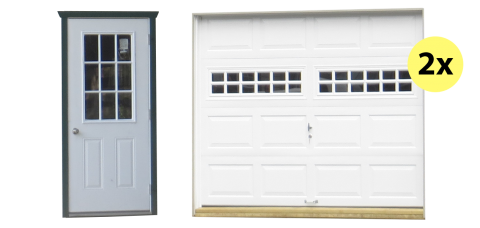 two car legacy shed and garage doors 1