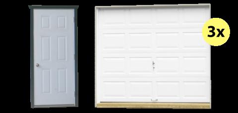 three car shed and garage doors
