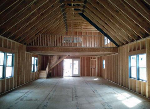 large two story garage