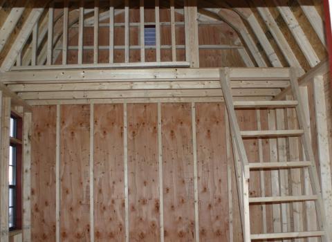 interior of upscale storage sheds
