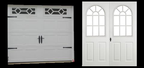 premier dutch vinyl single car garage doors