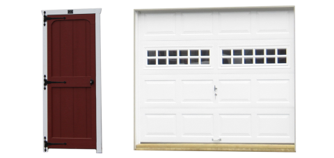 classic single car garage doors