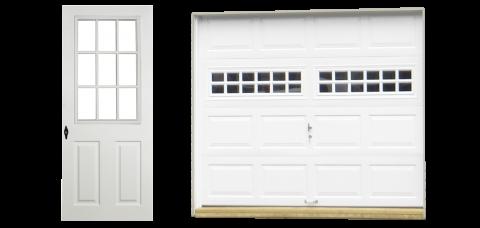 classic single car vinyl garage doors 0