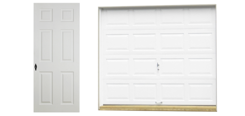 standard vinyl single car garage doors