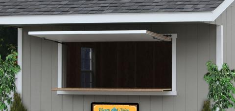 concession stand prefab shed pa
