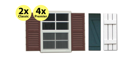 expressions window for portable sheds garages