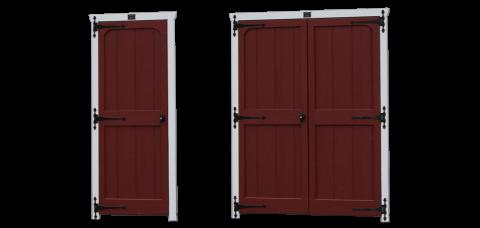 classic wooden shed garage doors