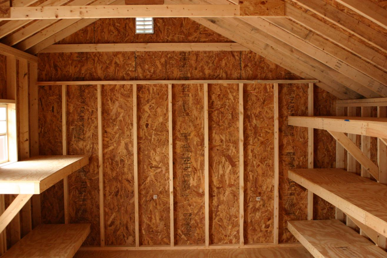 saltbox shed shelving ideas