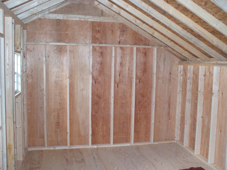 saltbox storage shed interior photos