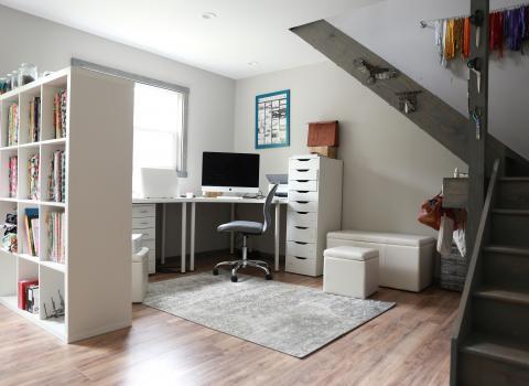 14x24 studio shed interior