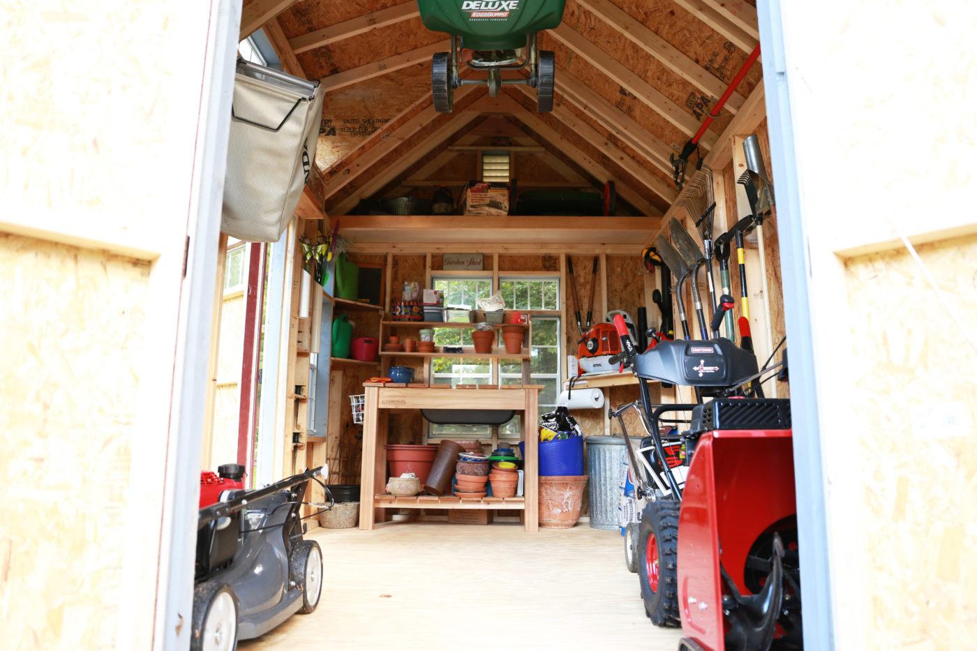 inside a premier storage shed