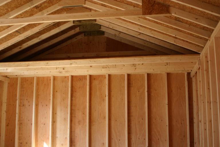 sheds garages interior options