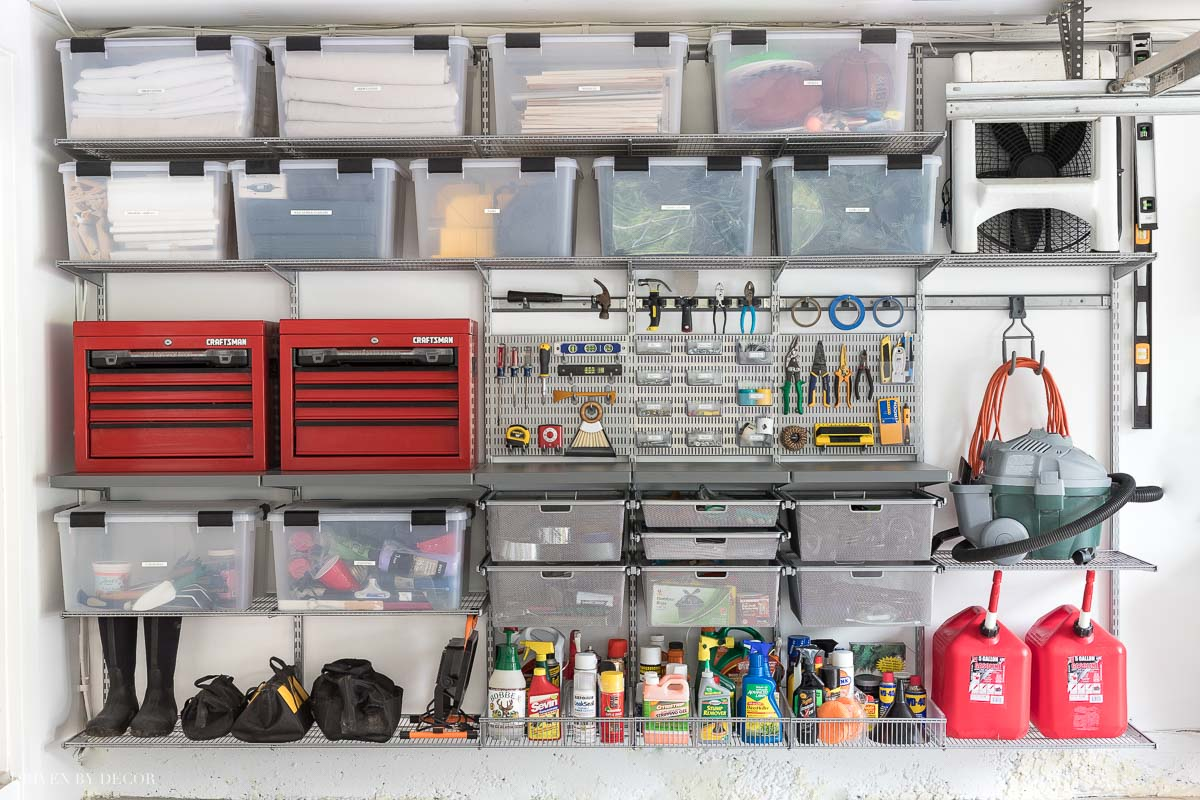 garage organization tips and tricks