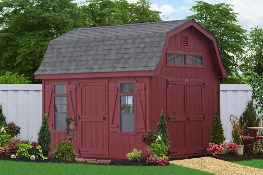 10x10 portable dutch barn shed 0