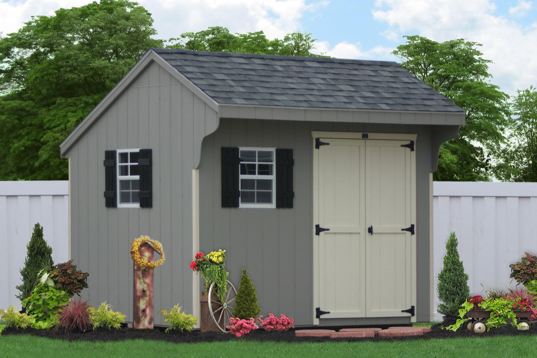 10x10 saltbox storage shed
