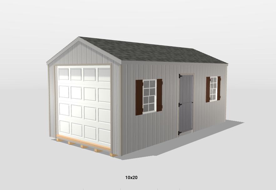 10x20 portable garages