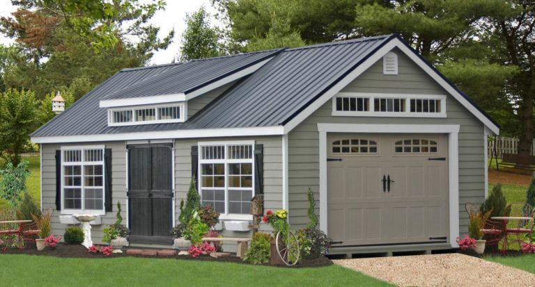 metal roof prefab car garages