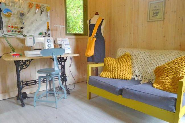 janes sewing shed backyard