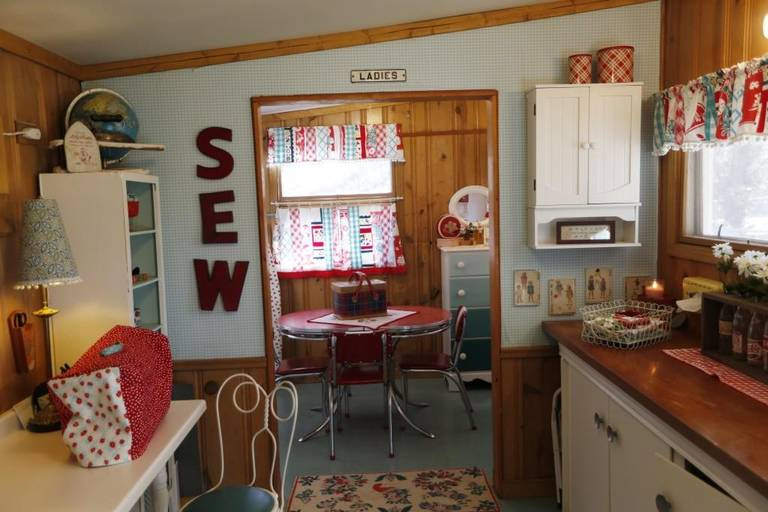 outdoor shed sewing room