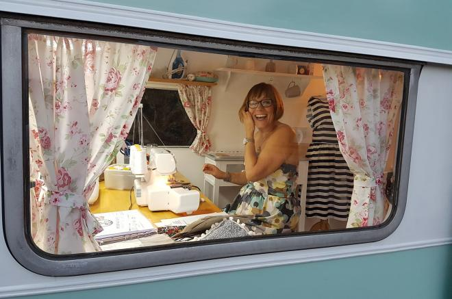 portable sewing room
