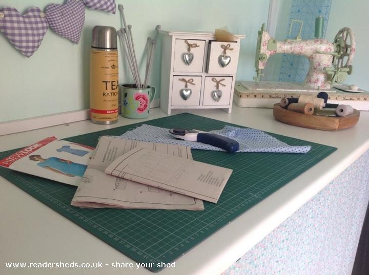 sewing room in shed great britain