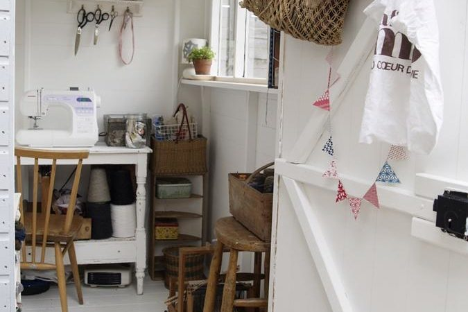 shed for backyard sewing studio