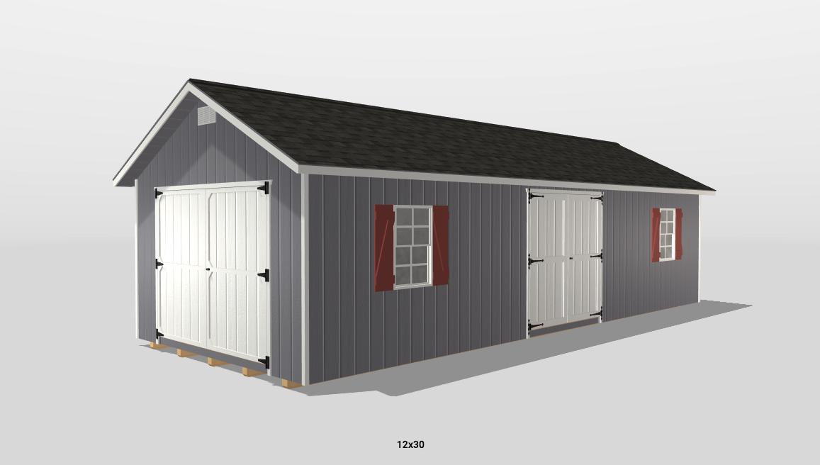 12x30 shed 3d build