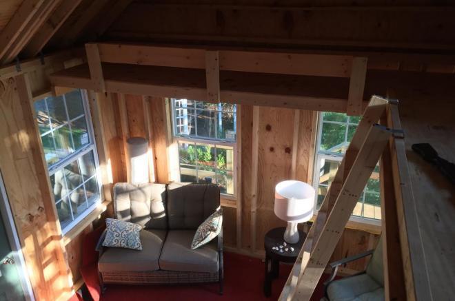 12x30 shed loft
