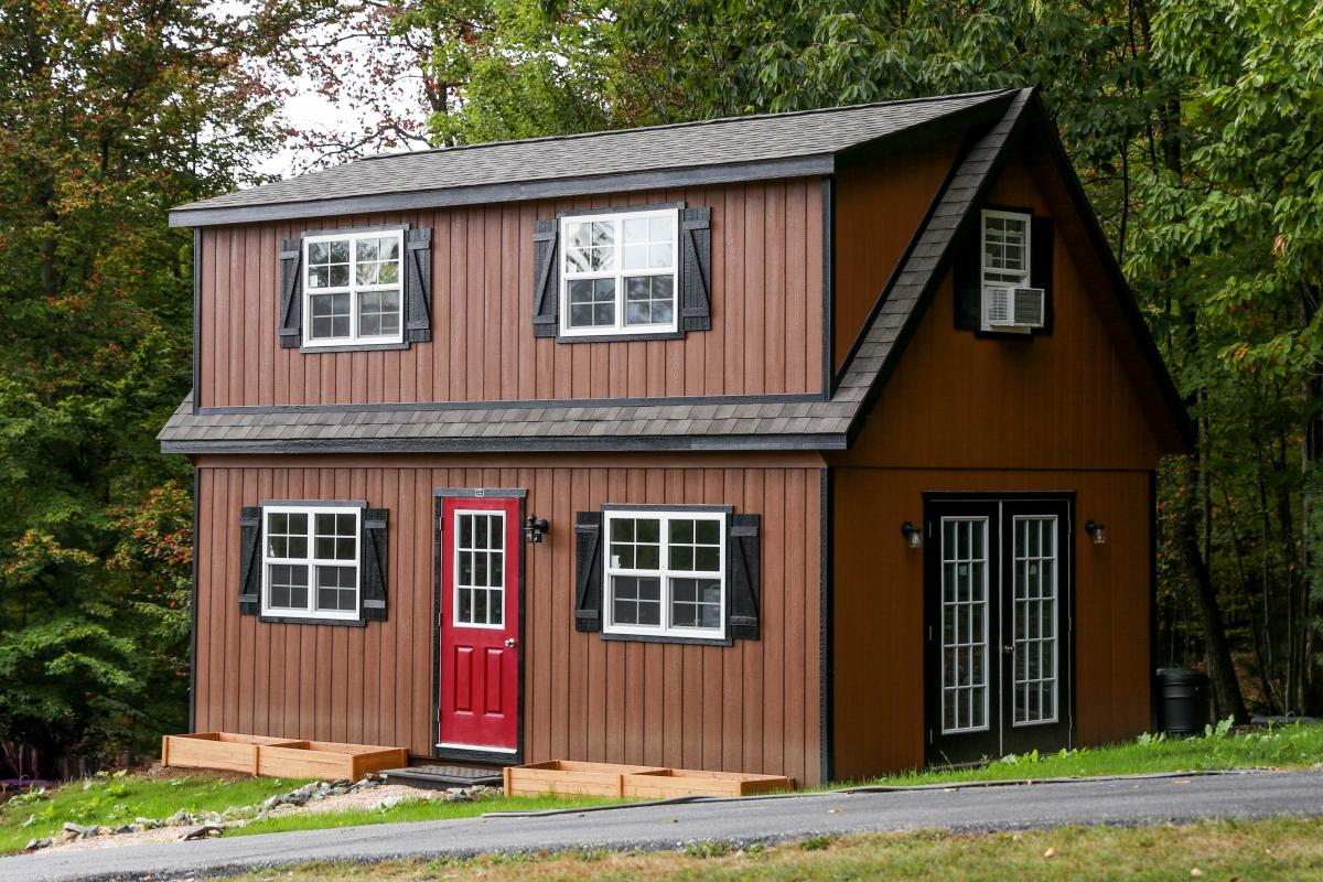 16 ft shed doors and windows