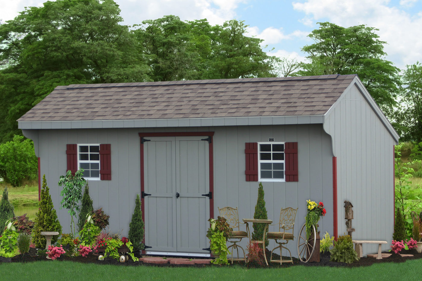 16ft wooden saltbox shed