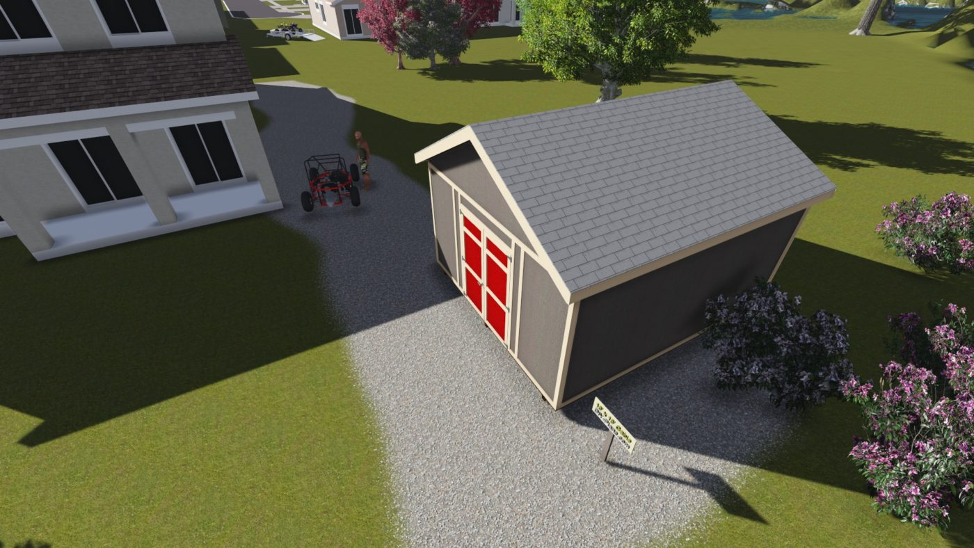 birds eye view 16 ft shed 0