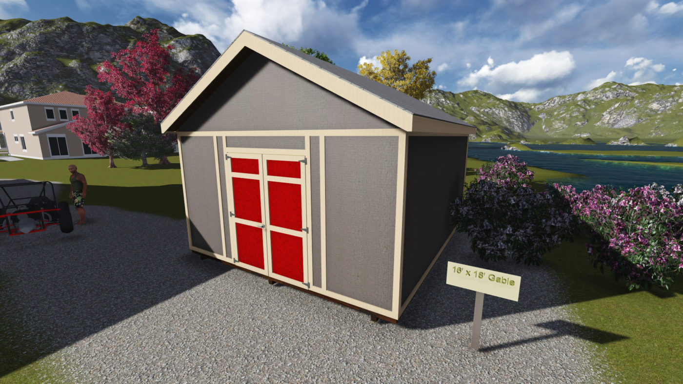 front exterior of 16 ft shed 0
