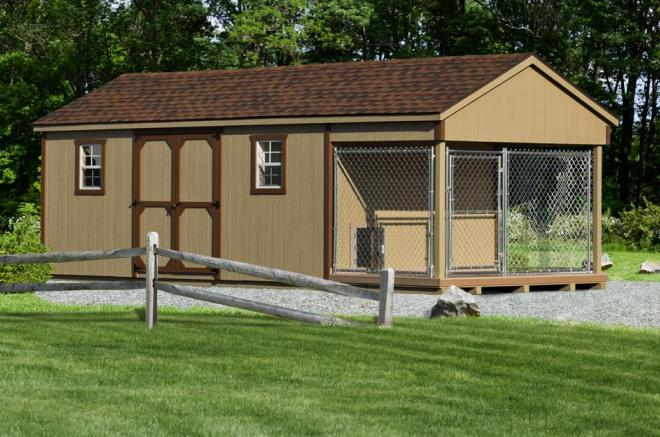 10x24 storage shed dog kennel combo