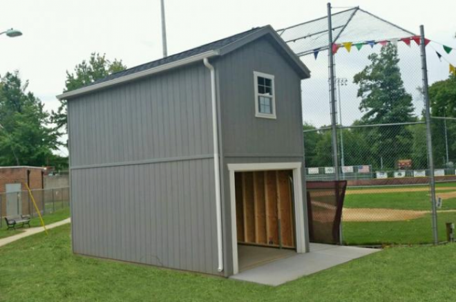 annoucers booth storage sports field
