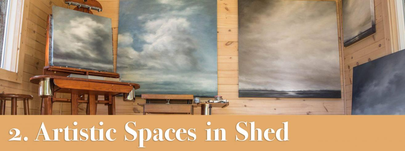 art studio in a storage shed pa 1