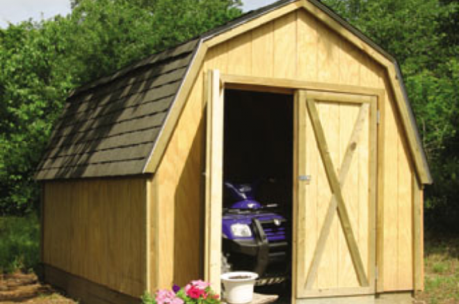 atv storage shed garage