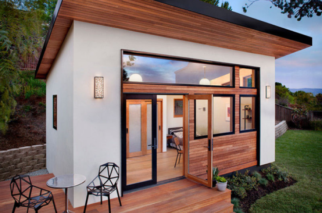 backyard apartment in a shed