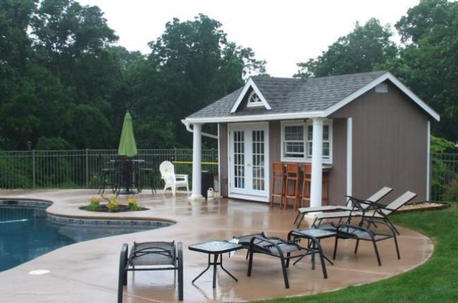 classic backyard storage shed poolhouse