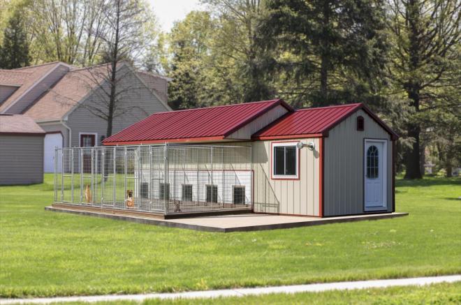 dog kennel mansion