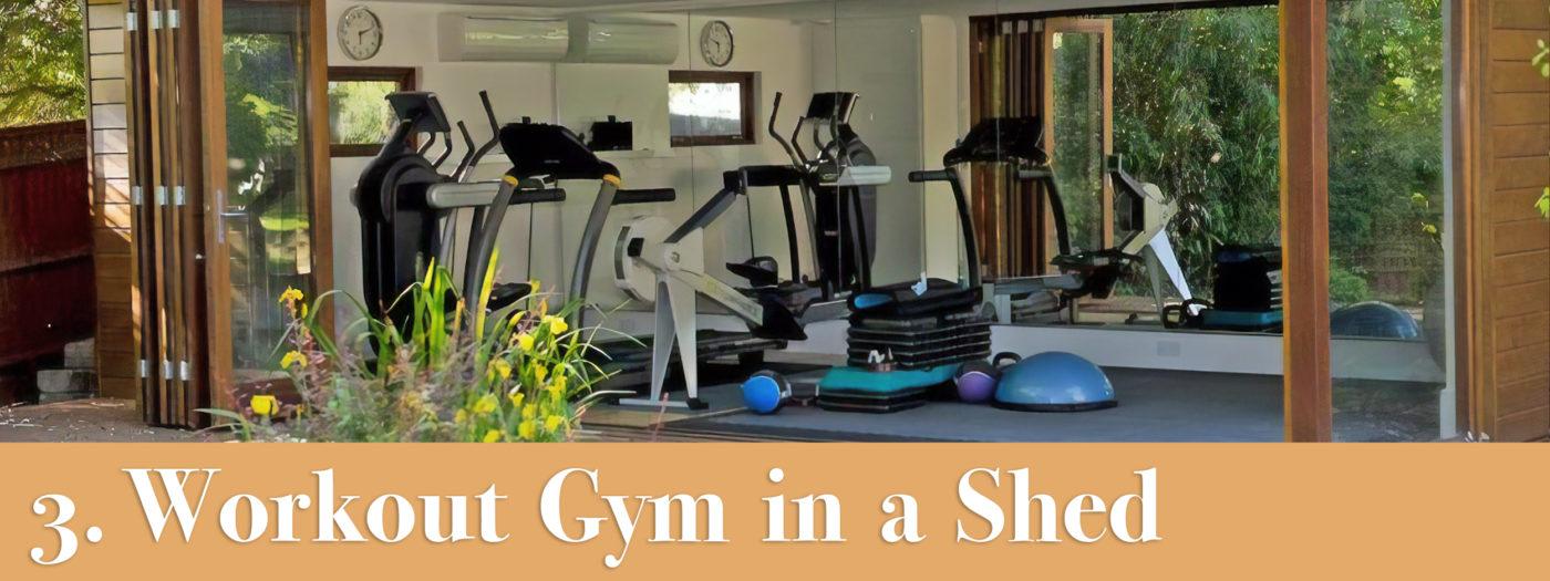 gym in a storage shed