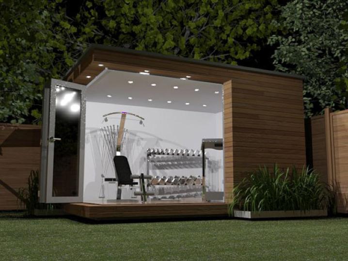 modern backyard gym pa