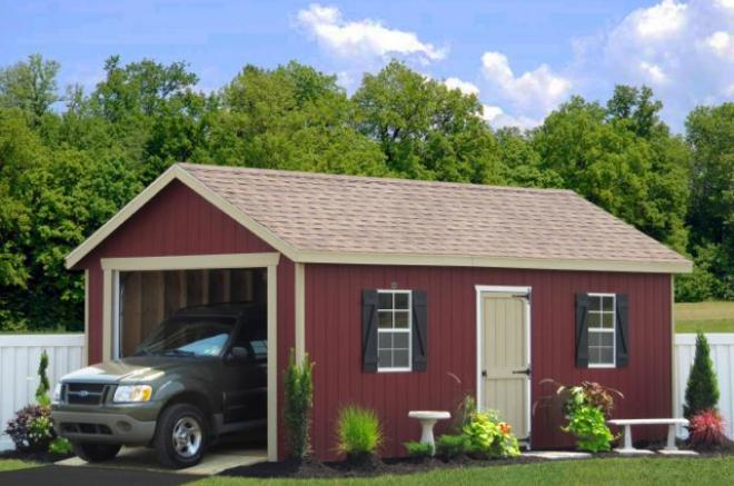 one car garage shed