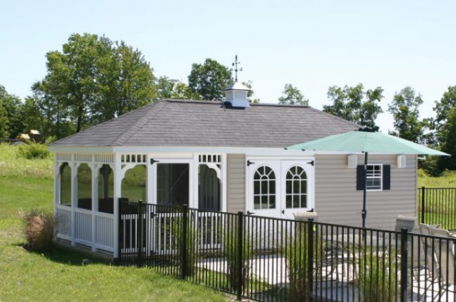 poolhouse cabana sheds