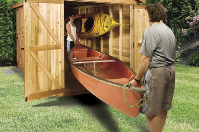 portable canoe storage sheds